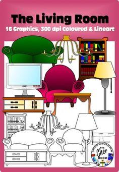 Living Room clipart my house Sillón Vocabulario (My Room Living