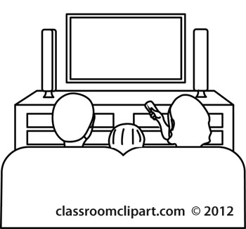 Living Room clipart outline Watching jpg Classroom tv People