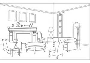Living Room clipart outline Living items Living  pages
