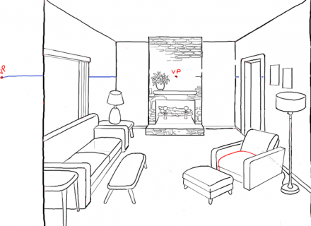 Living Room clipart outline 943 Tutorial simple white Room