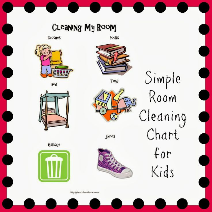 Bed clipart household chore Toddlers chart cleaning Chore and