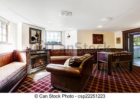 Living Room clipart rich family Room csp22251223 leather Luxury room