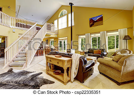 Living Room clipart rich family Room csp22335351 staircase Luxury room