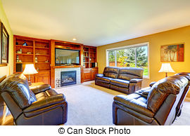 Living Room clipart rich family Room living set Luxury room