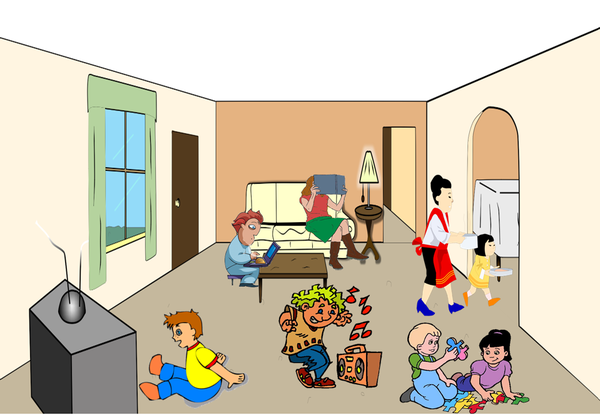Living Room clipart sitting room Clker Images online clip at