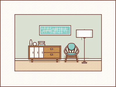 Living Room clipart study room Living Study Dribbble by Putnam