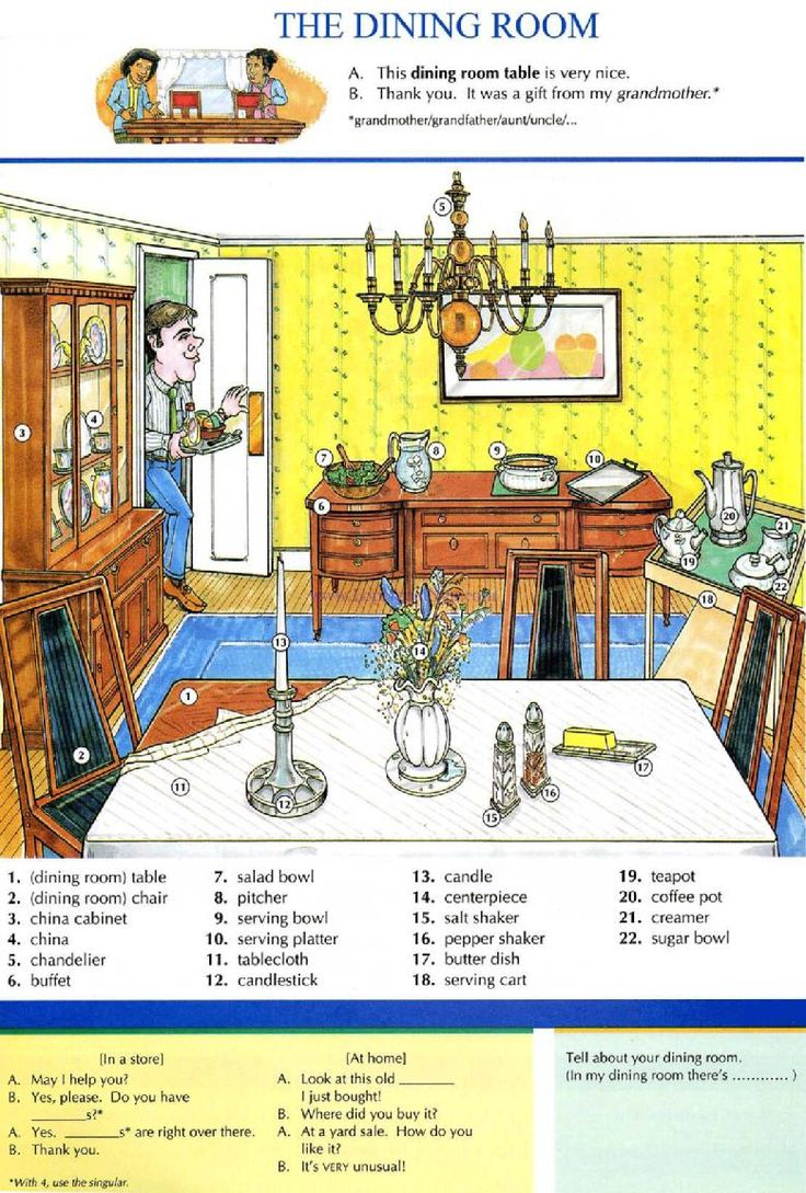 Living Room clipart study room ROOM dictionary free exercises English
