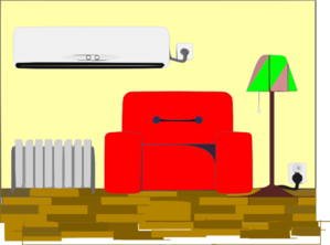 Living Room clipart their Clip Large Living  Art