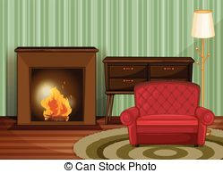 Living Room clipart their Images Illustration room and 127
