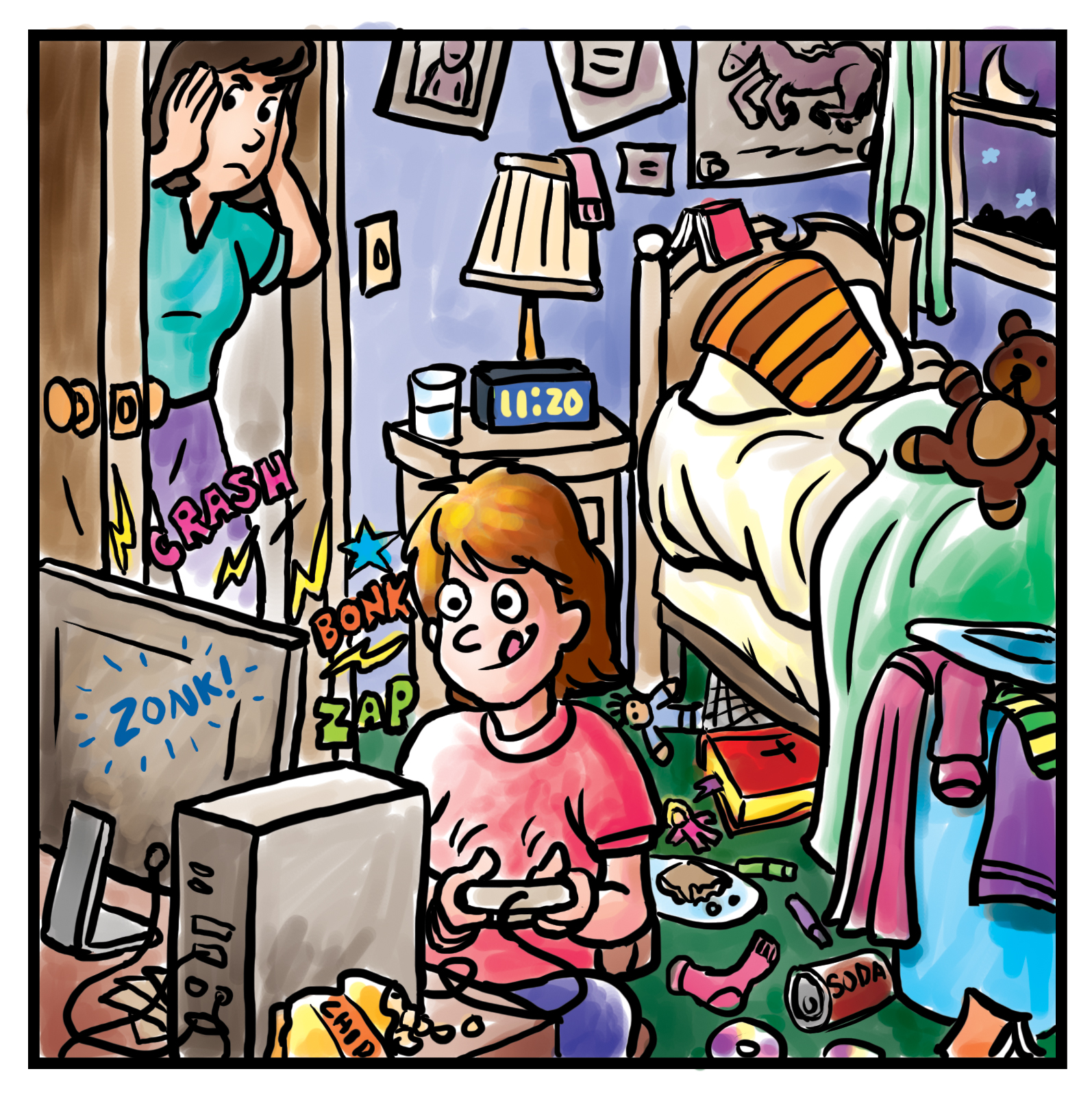 Bedroom clipart messy room #9