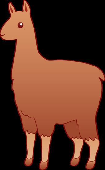 Llama clipart Images Brown Llama com Art