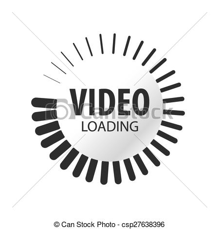 Loading clipart Vector abstract video vector abstract