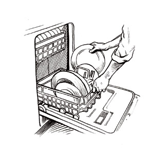 Loading clipart black and white Loading  HealthCare » Dishwasher
