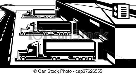 Loading clipart black and white Loading loading Trucks Vector vector