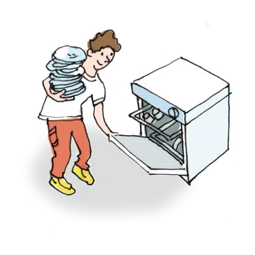 Loading clipart empty dishwasher Unload Art Clipart Free Dishwasher