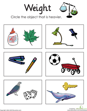 Loading clipart heavy light Com Weight Math Worksheets: or