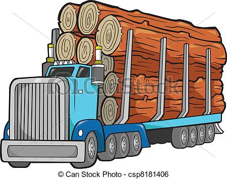 Loading clipart log truck Clipart Logging clipart  Collection