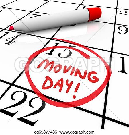Loading clipart moving day Reminder calendar Date Calendar Circled