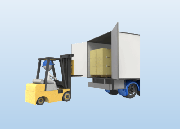 Truck clipart loading truck Template ·  PowerPoint Forklift
