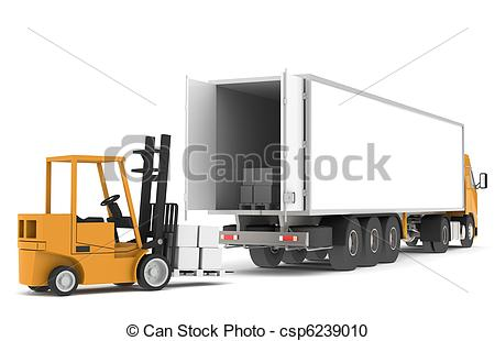 Truck clipart loading truck A Illustration Loading loading the