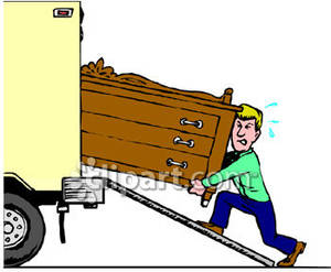 Truck clipart loading truck Man a A Picture Truck