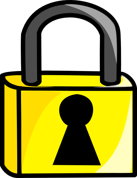 Lock clipart gold This Closed Clker Art Clip