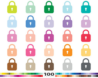 Lock clipart cute Svg Padlock 100 illustration security