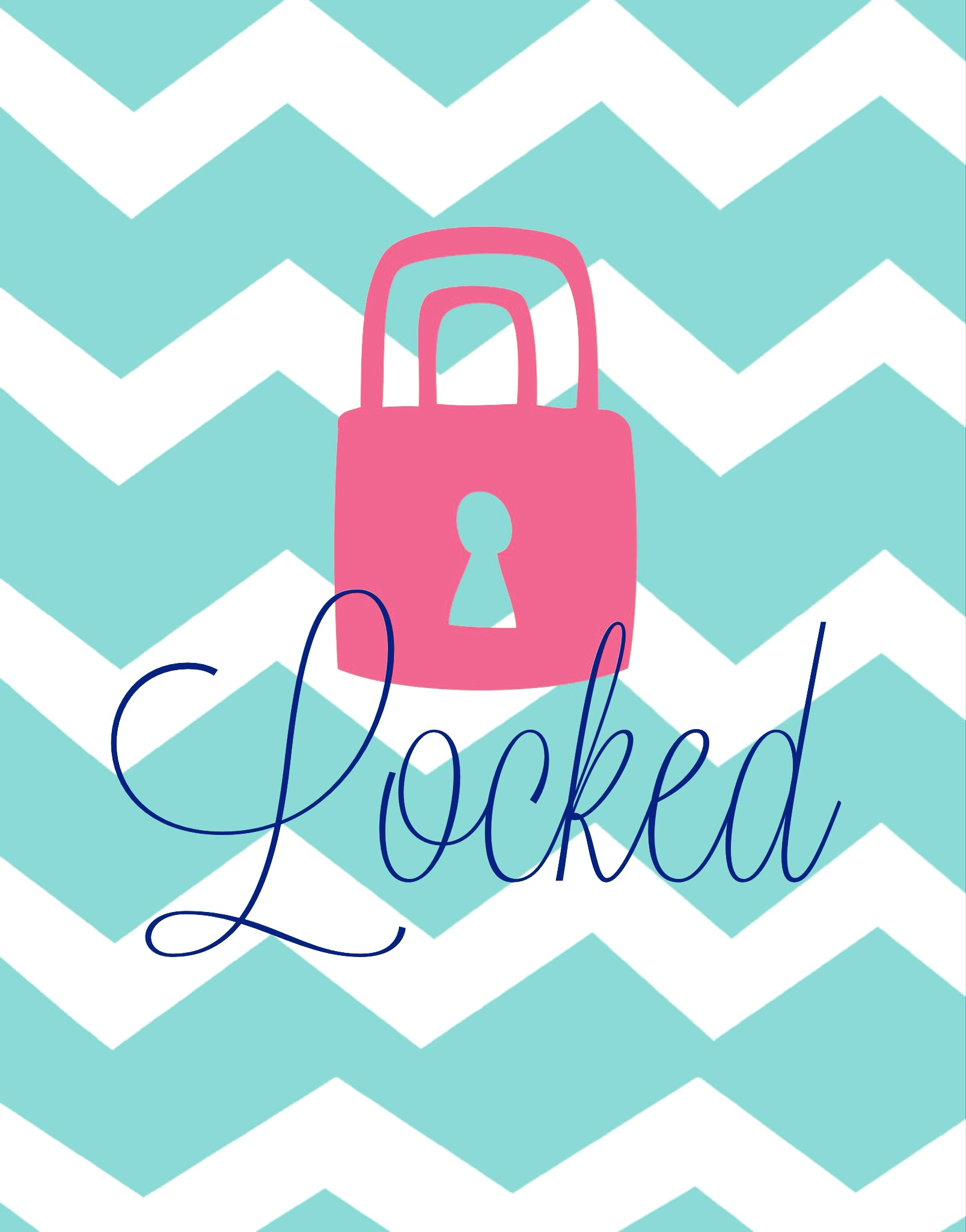 Lock clipart cute Screens Chevron Wallpapers iPhone screen