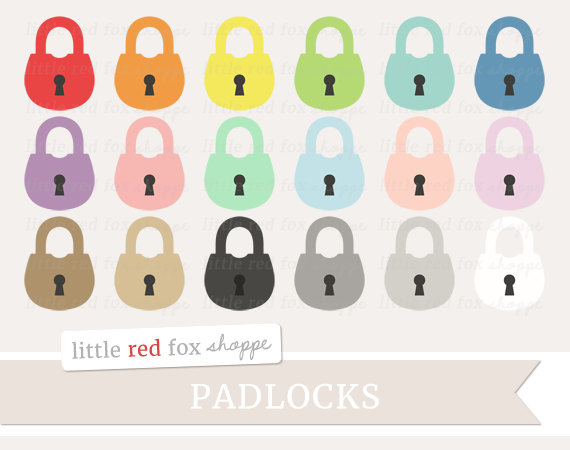 Lock clipart cute Padlock Old Clipart Graphic Clip