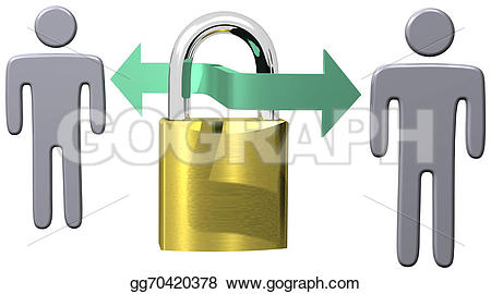 Lock clipart vintage Link communications Stock  Clipart
