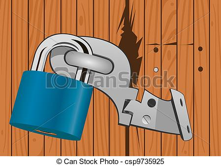 Lock clipart door lock Csp9735925 with  Clipart lock