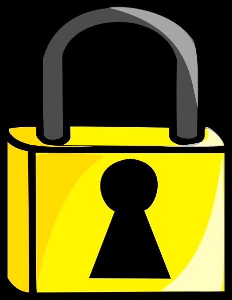 Lock clipart gold This Gold Clker  Art