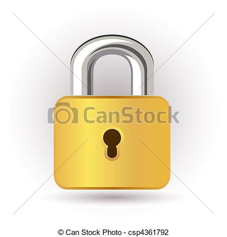 Lock clipart gold Lock Art Search lock Gold