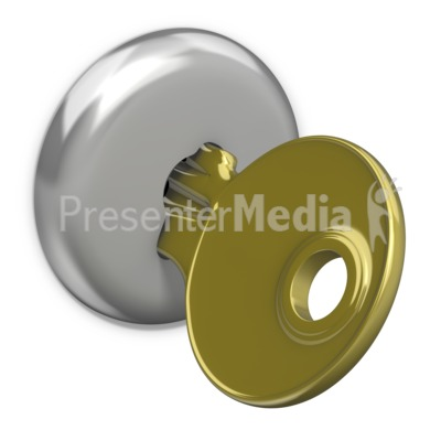 Lock clipart gold Key PowerPoint In  Gold