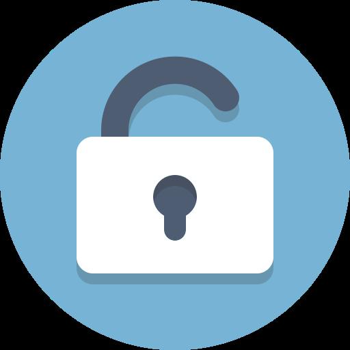Lock clipart unlocked Lock  unlocked icon