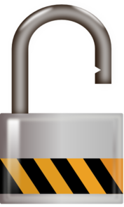 Lock clipart unlocked Padlock  Unlocked Clip Clip