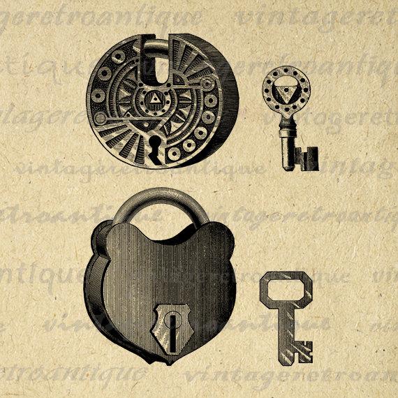 Lock clipart vintage Antique Key Padlocks Padlock Pad