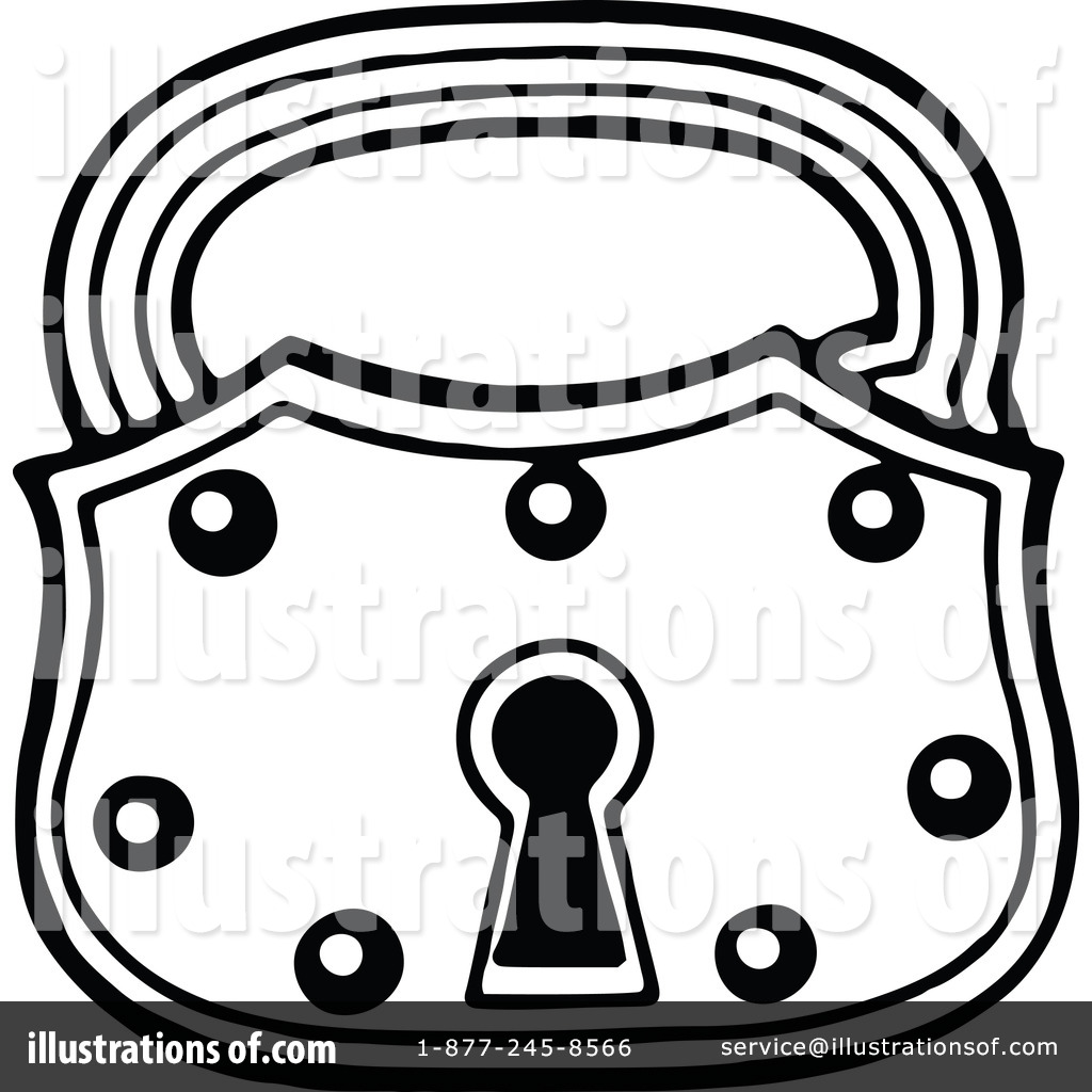 Lock clipart vintage (RF) by Padlock Royalty by