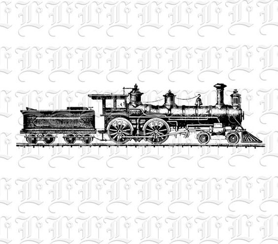 Locomotive clipart 19th century • of Vintage by 20