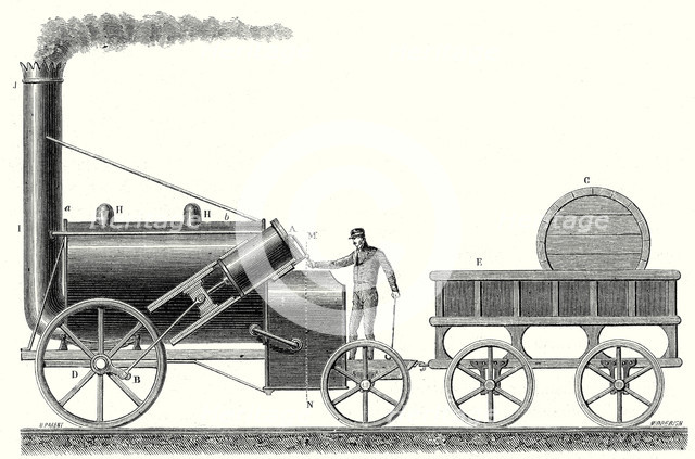 Locomotive clipart 19th century Rights  from 19th Artist: