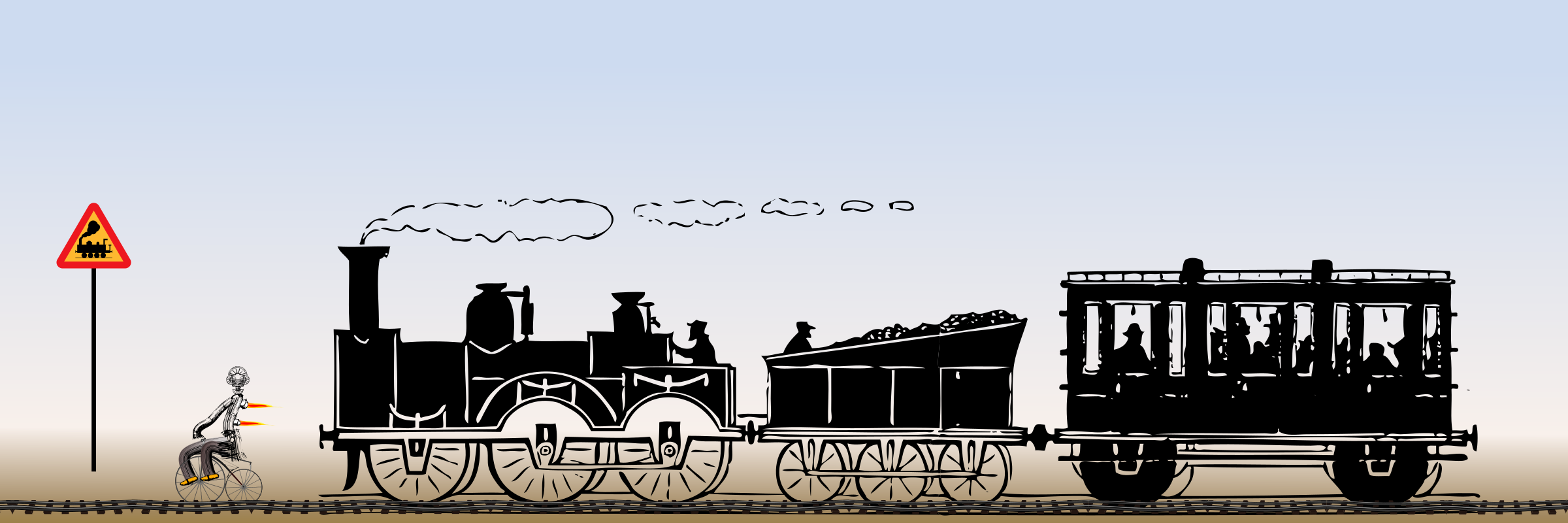 Locomotive clipart 19th century Vehicle Train and and Vehicle