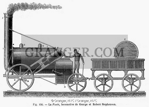 Locomotive clipart 19th century Image Stephenson's 1829 Stephenson's '
