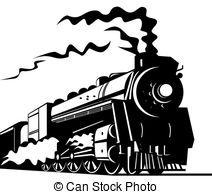 Locomotive clipart black and white Train  Illustration rail locomotive