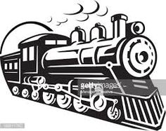 Locomotive clipart black and white 搜尋 free RAILROAD Royalty