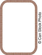 Locomotive clipart border Locomotive and Railroad royalty Illustrations