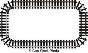 Locomotive clipart border Transport wiev locomotive made track