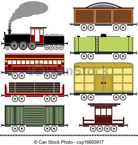 Railways clipart vintage train #9