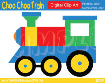 Locomotive clipart choo choo train Choo Choo Art Commercial Choo