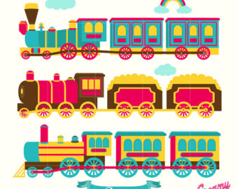 Locomotive clipart choo choo train Choo Boys / art Digital