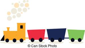 Train clipart colored #1